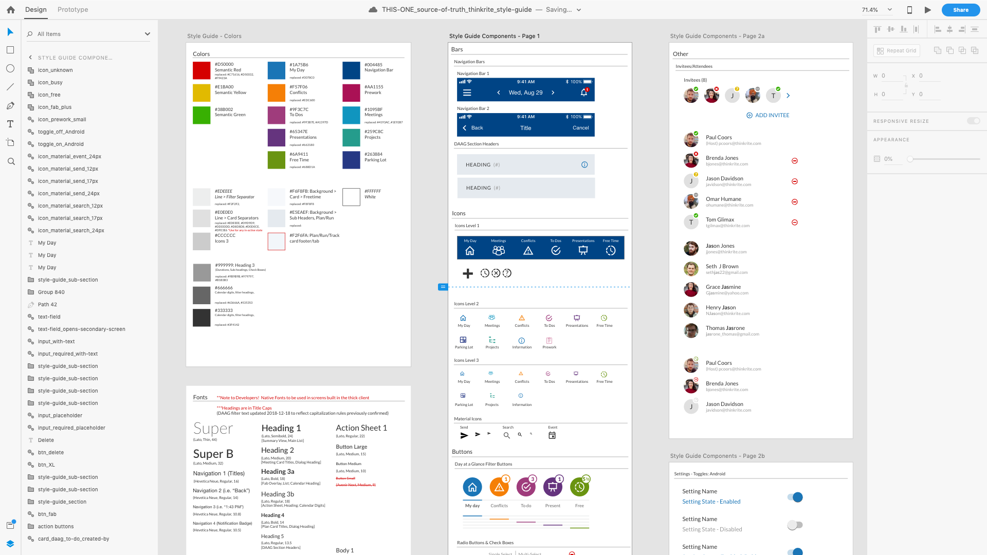 Style Guide & Design System (For Thinkrite) Gallery Image